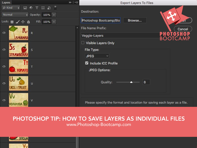 Photoshop Tip: How To Save Individual Layers As File