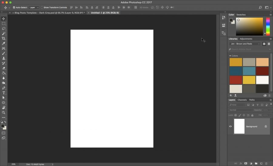 4 New A5 document in Photoshop