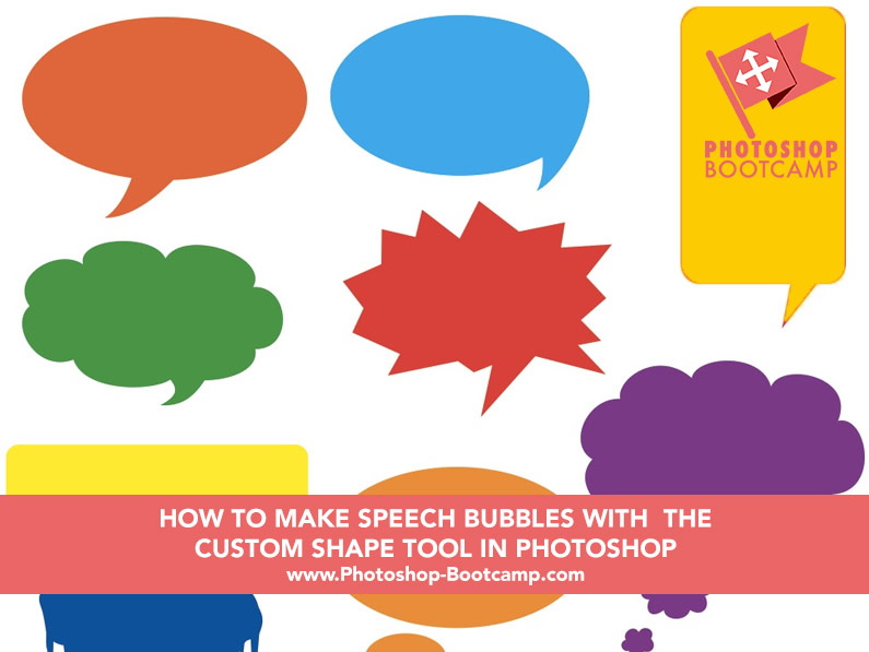 How To Get Speach Bubbles In Your Game In Roblox How To Make Speech Bubbles Using The Custom Shape Tool In Photoshop Photoshop Bootcamp Photoshop For Beginners