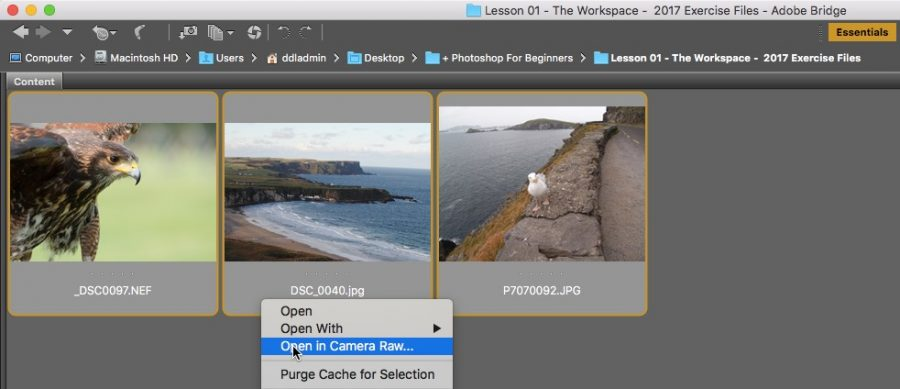 How To Open Images In Camera Raw In Photoshop - Photoshop Bootcamp
