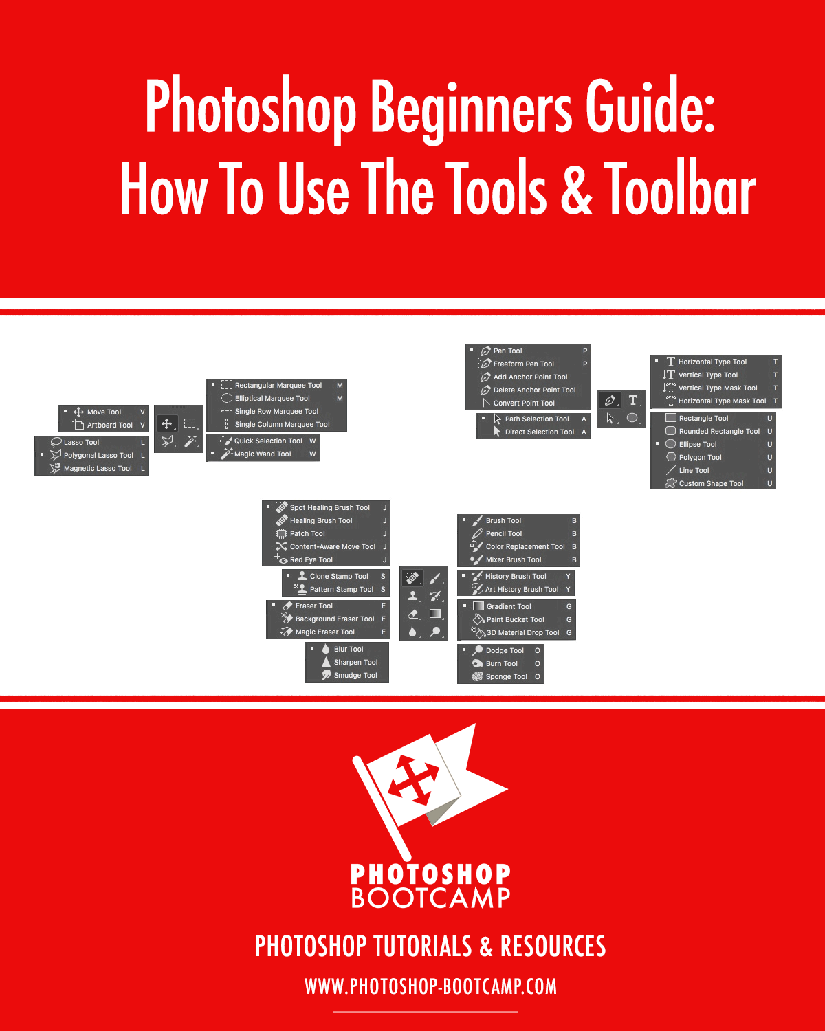 Beginners guide to photoshop tools toolbar photoshop bootcamp photoshop beginners guide how to use the tools toolbar baditri Gallery