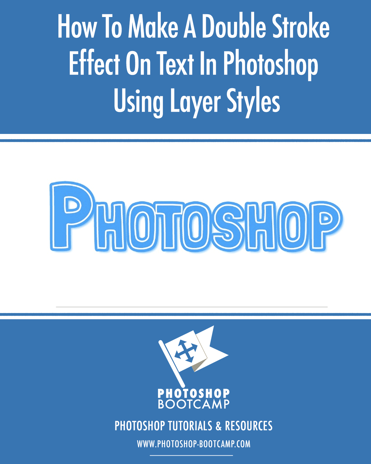How To Make A Double Stroke Effect On Text In Photoshop Using Layer