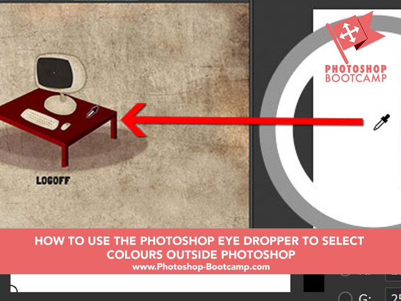 photoshop tip how to pick a color outside photoshop using the