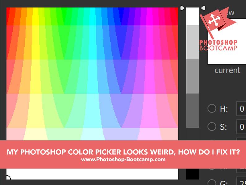 Photoshop Tip: My Photoshop Color Picker Looks Strange, How