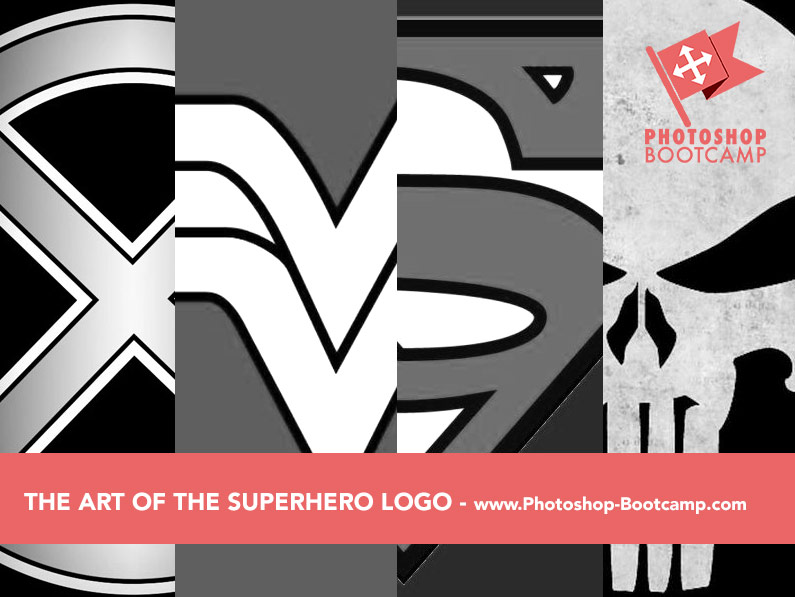 The Art Of The Superhero Logo Four Clean Simple Bold Logos