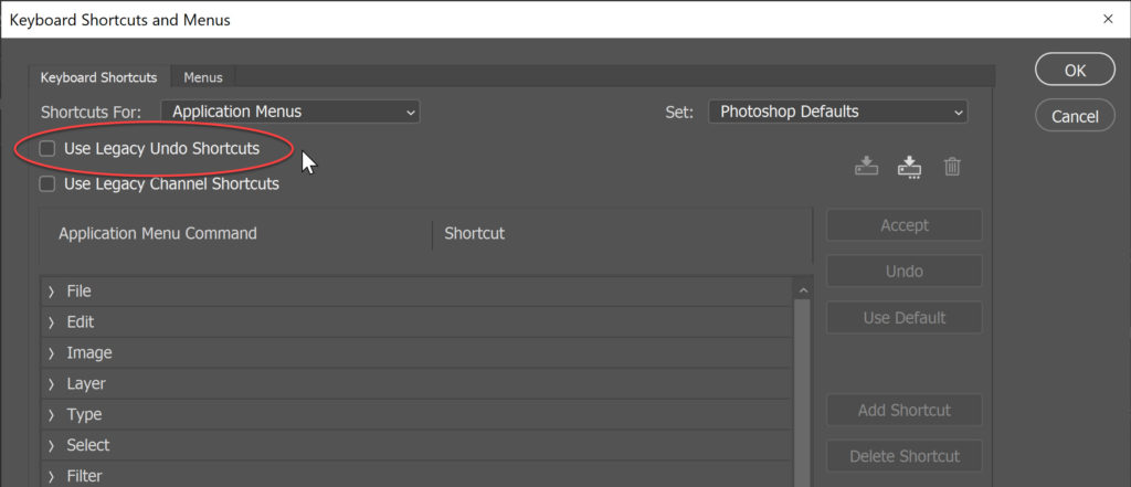 The New UNDO shortcut in Photoshop CC 2019 - Photoshop Bootcamp